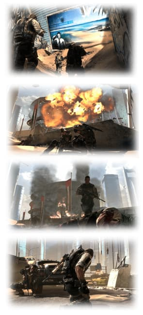 Explosive third-person shooter action in Spec Ops: The Line on Xbox 360 at GAME