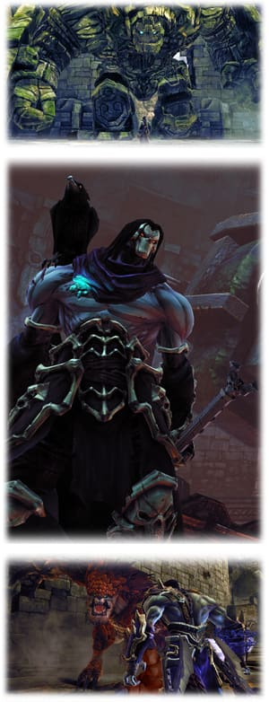 Battle bests and bosses across the Abyssmal Plane and beyond in Darksiders 2 on PlayStation 3