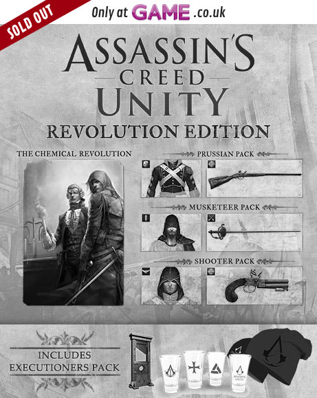 Assassins Creed Unity Revolution Edition With Executioners Pack