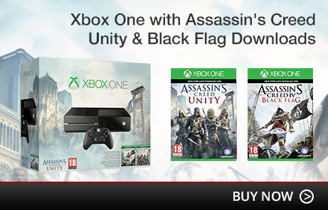 Xbox One with Assassin's Creed Unity & Black Flag Downloads