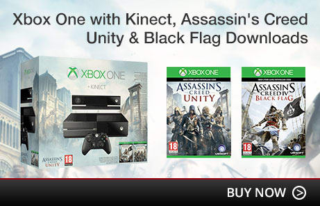 Xbox One with Kinect, Assassin's Creed Unity & Black Flag Downloads