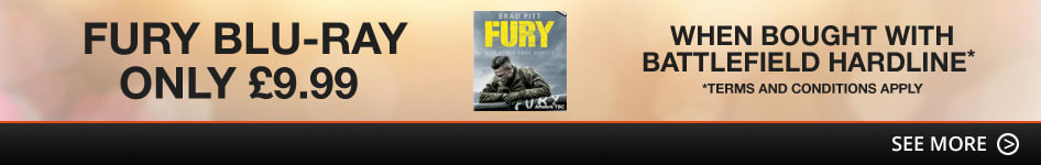 Fury Blu-Ray only £9.99 when bought with Battlefield Hardline