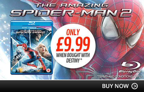 Amazing Spider-Man 2 only £9.99 when bought with Destiny