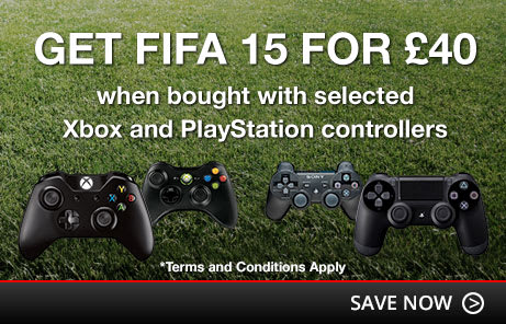FIFA 15 for £40 when bought with selected controllers