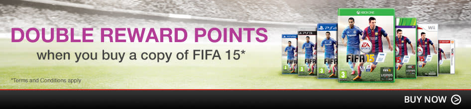 Double Reward Points when you buy FIFA 15