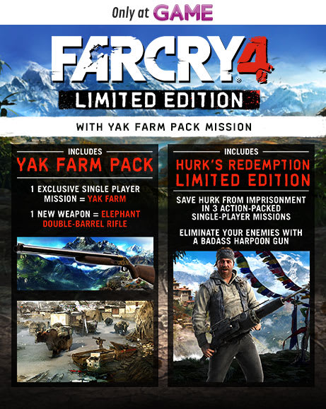 Far Cry 4 Limited Edition with Yak Farm Pack Mission