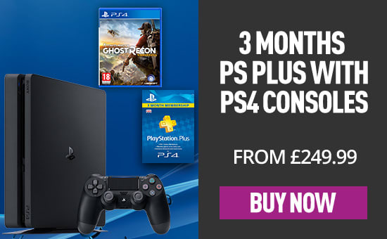 FREE PS Plus with PS4 Console