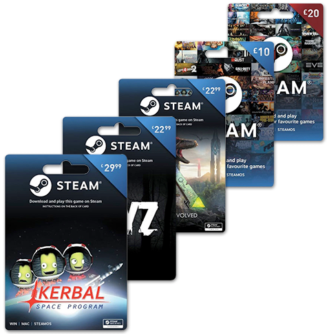 Steam Wallet Top Ups