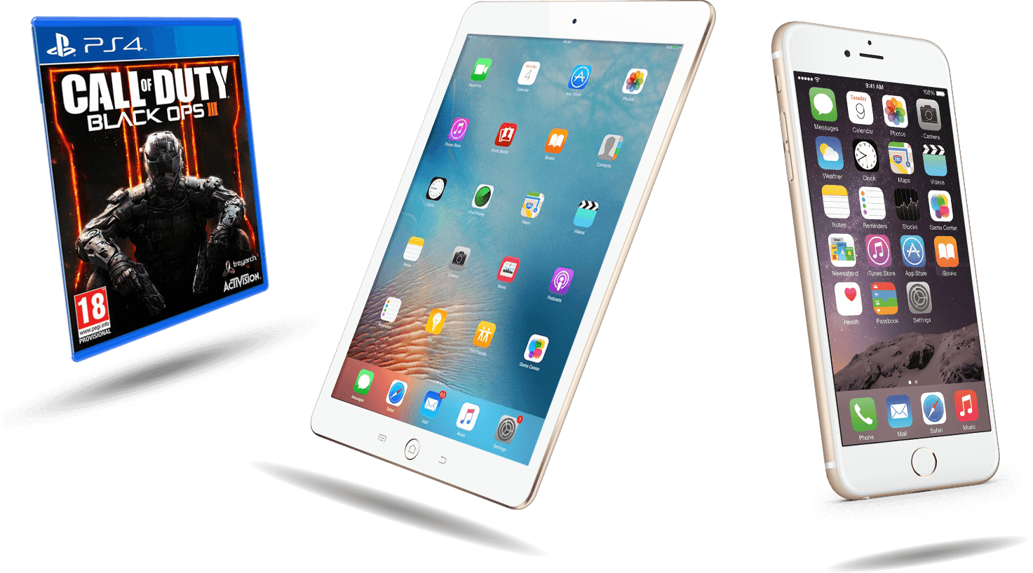 Trade-in your iPad, phone or games.