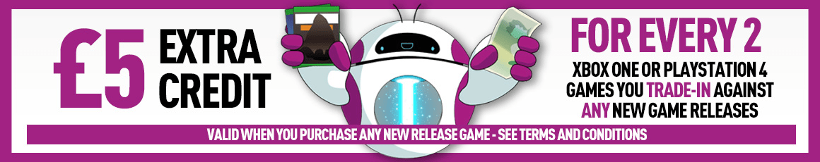 Trade in old games towards new releases! Trade in now at GAME