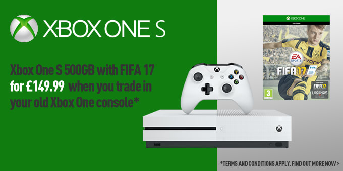 Xbox One S 500GB with FIFA 17 Trade-in offer