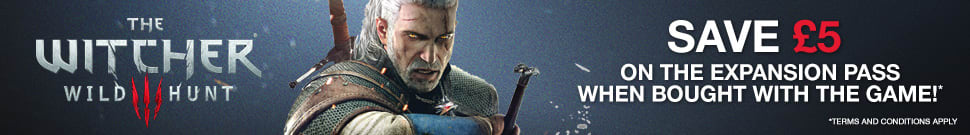 Save £5 on The Witcher 3: Wild Hunt when bought with the Expansions Pass!