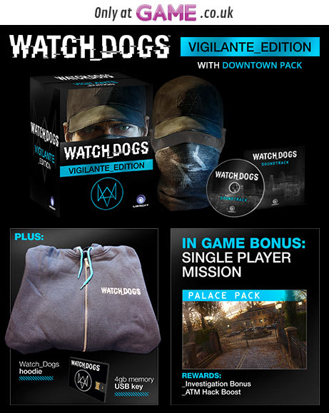 Watch Dogs Vigilante Edition with Downtown Pack