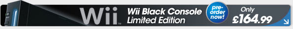 reorder: Nintendo Wii Black Console. Limited Edition. Only £164.99!