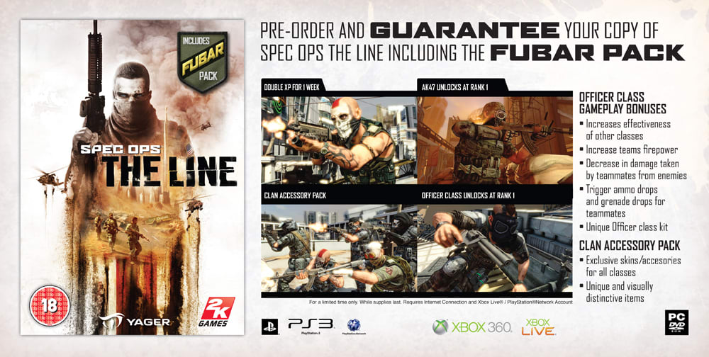 Preorder Spec Ops The Line and receive the FUBAR bonus pack