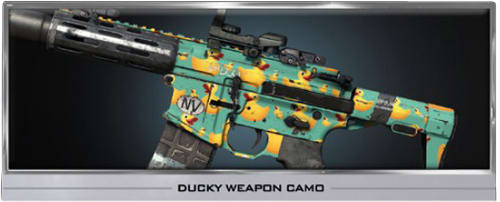 Call of Duty Ghosts Ducky Weapon Camo