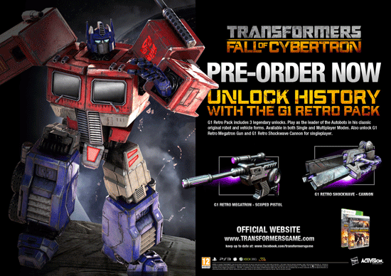 Transformers Fall of Cybertron G1 Retro Pack