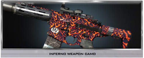 Call of Duty Ghosts Inferno Weapon Camo