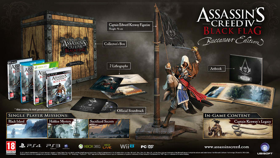 Assassin's Creed IV Black Flag Buccaneer Edition on PC, PS3, PS4, Wii U and Xbox 360