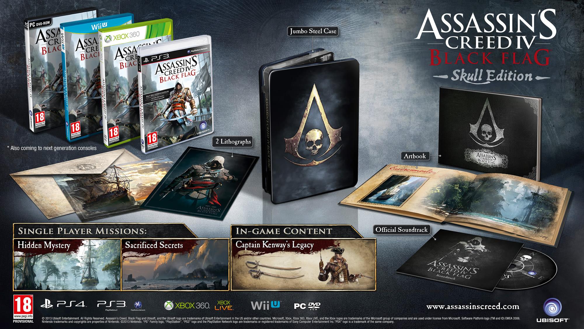 Buy Assassin S Creed Iv Black Flag Skull Edition On Playstation 4