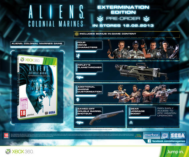 Aliens Colonial Marines Etermination Edition on Xbox 360, PlayStation 3 and PC at GAME
