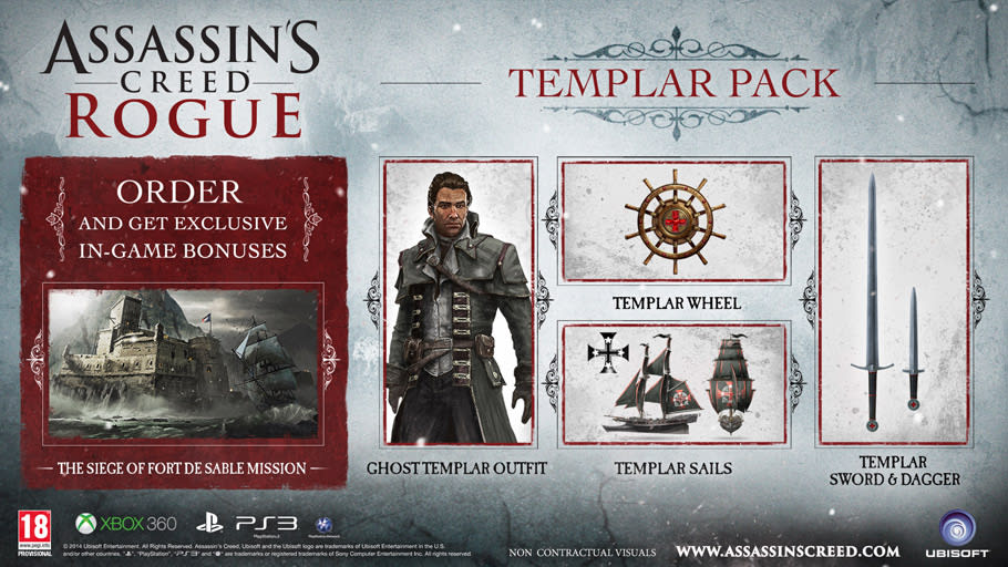 Assassin's Creed Rogue Templar Pack