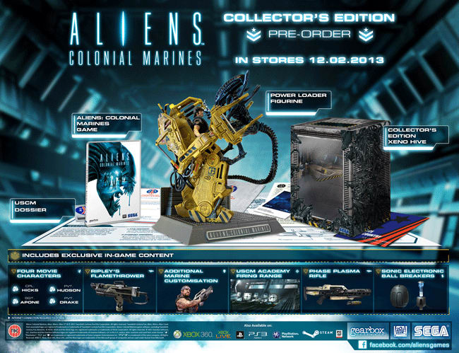 Aliens Colonial Marines Collectors Edition on Xbox 360, PlayStation 3 and PC at GAME