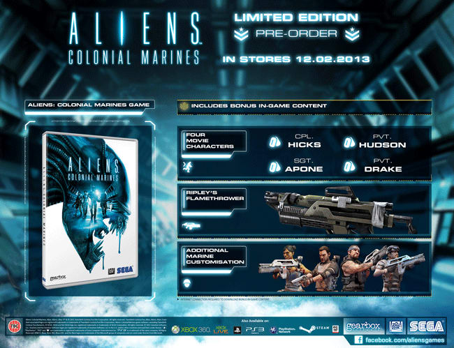 Aliens Colonial Marines Limited Edition on Xbox 360, PlayStation 3 and PC at GAME