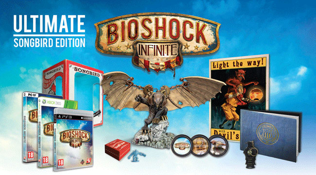 Bioshock Infinite Ultimate Songbird Edition available on Xbox 360, PS3 and PC only at GAME