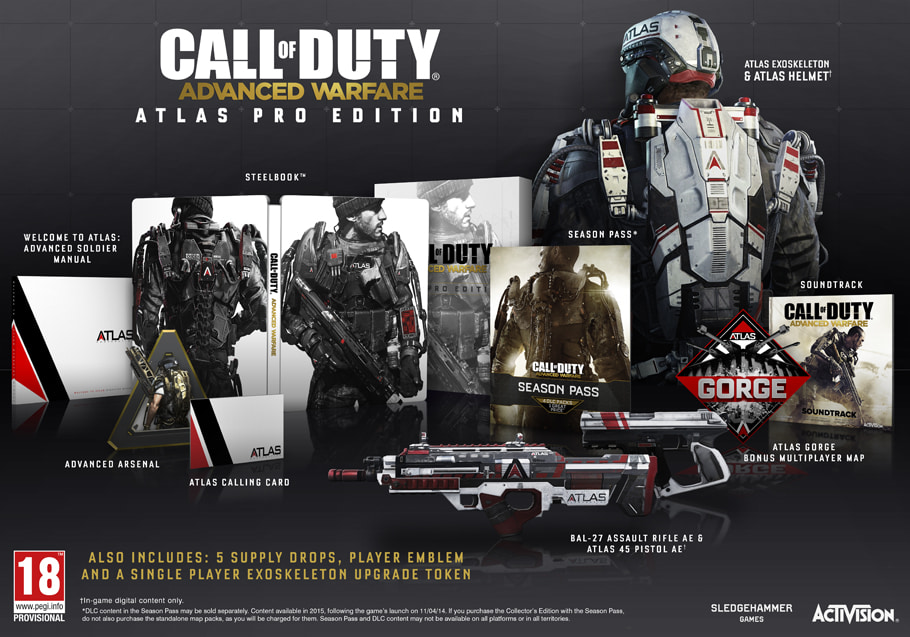 Call of Duty Advanced Warfare Atlas Pro Edition for PlayStation 4 and Xbox One - Only at GAME