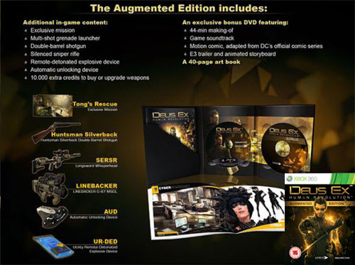 Deus Ex Human Revolution Augemented Edition Contents