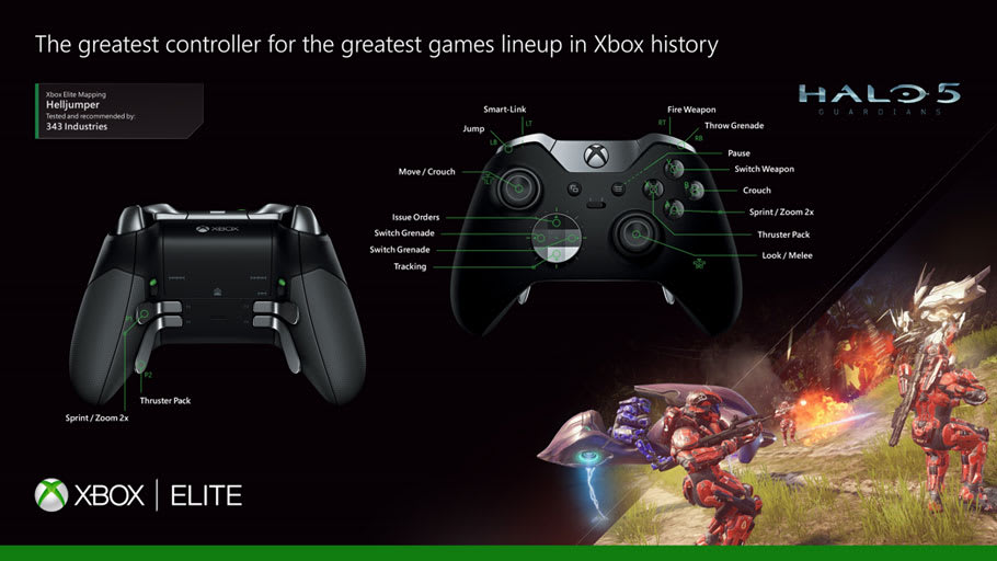 Xbox One Elite Controller Control Configurations
