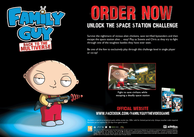 Family Guy Back to the Multiverse on Xbox 360 and PlayStation 3 at GAME