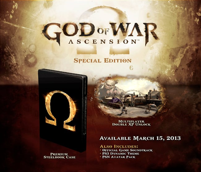 God of War Ascension Special Edition only on PS3 at GAME