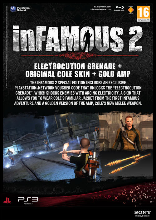 Infamous 2 Cole PS3 2 Second Son First Light INF017 RGC Huge Poster