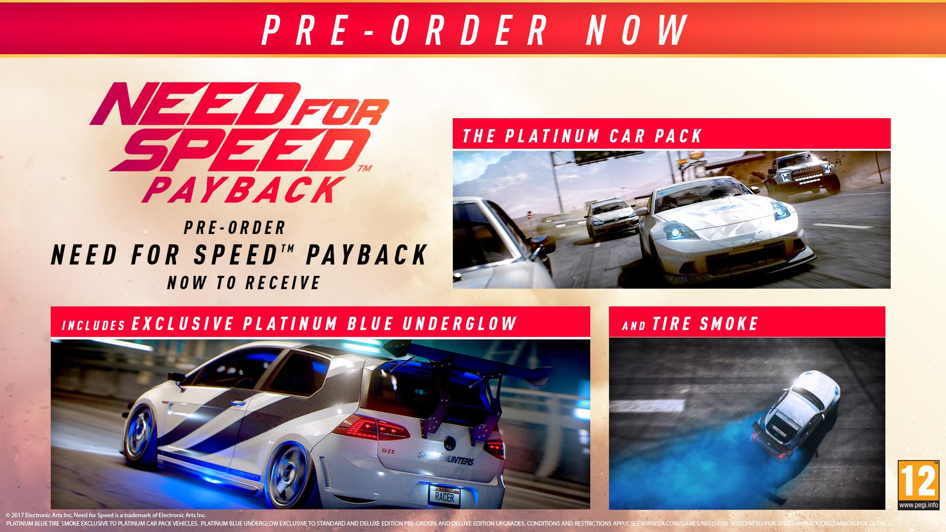 Need For Speed Payback Pre-order Bonus