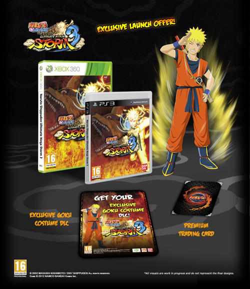 Naruto Ultimate Ninja Storm 3 Downloadable Goku Costume for Xbox 360 and PlayStation 3