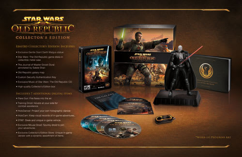 Star Wars: The Old Republic Collectors Edition Contents