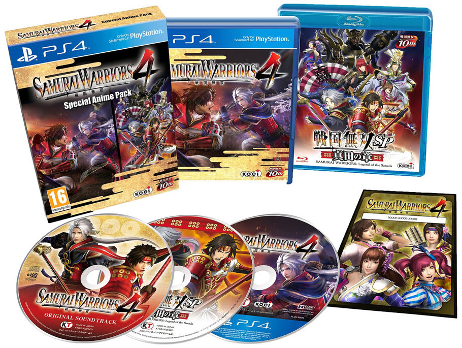 Samurai Warriors 4 Special Anime Pack only on PlayStation 4