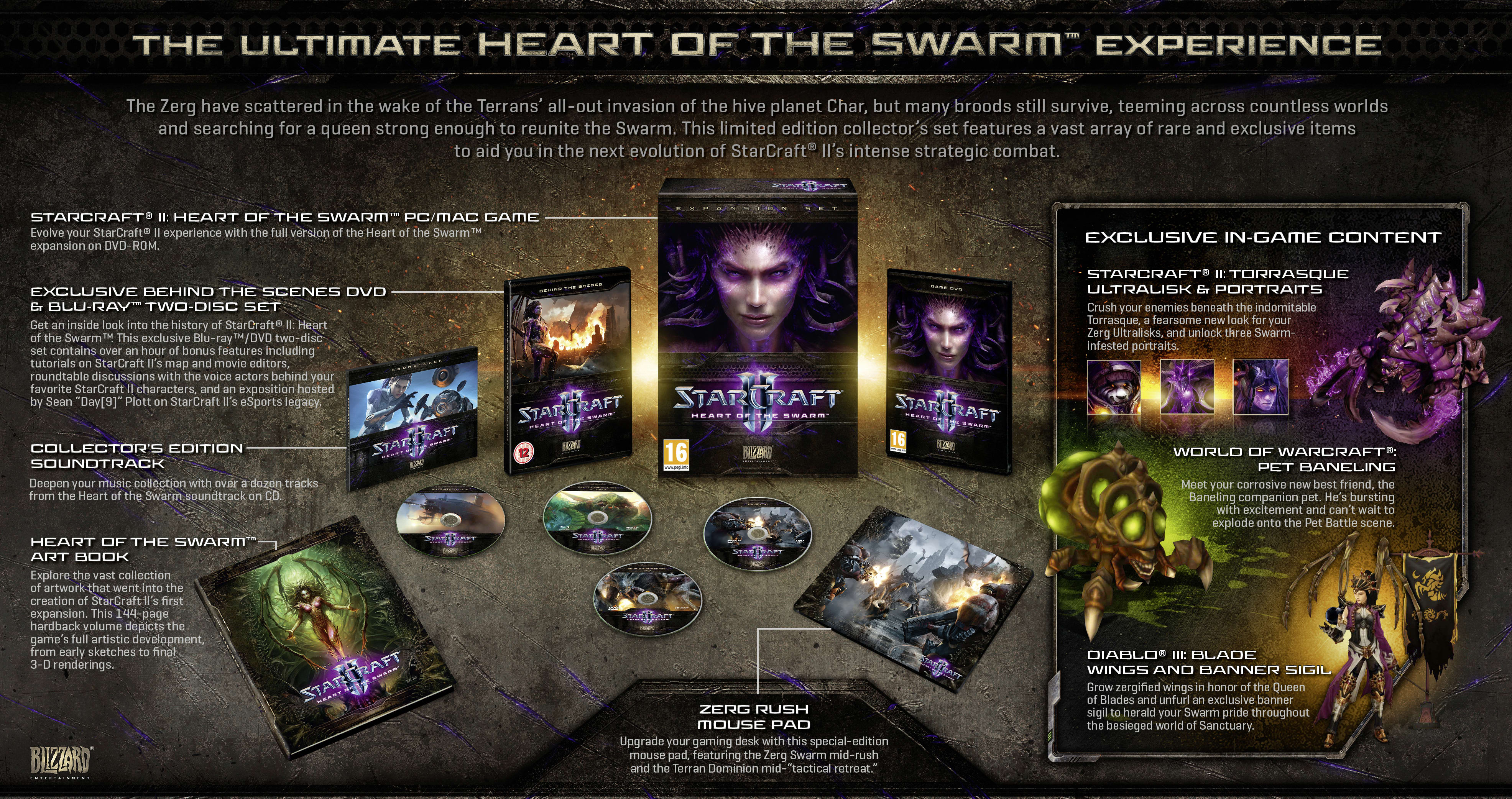 StarCraft II: Heart of the Swarm Collector's Edition for PC and MAC at GAME 
