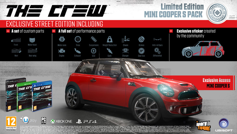 The Crew Limited Edition on PlayStation 4, Xbox One and PC - Only at GAME.