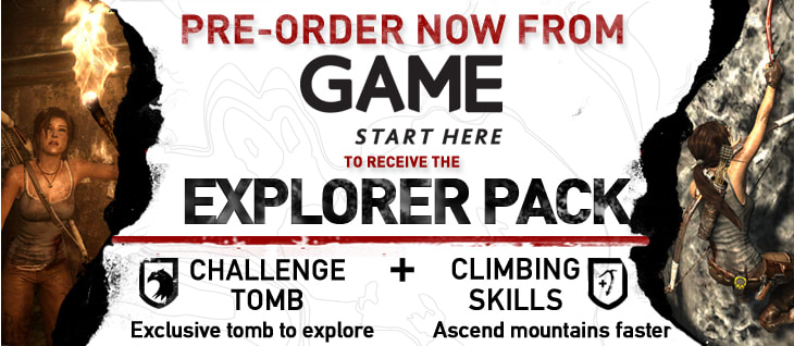 Tomb Raider GAME Exclusive Explorer Pack Preorder Bonus