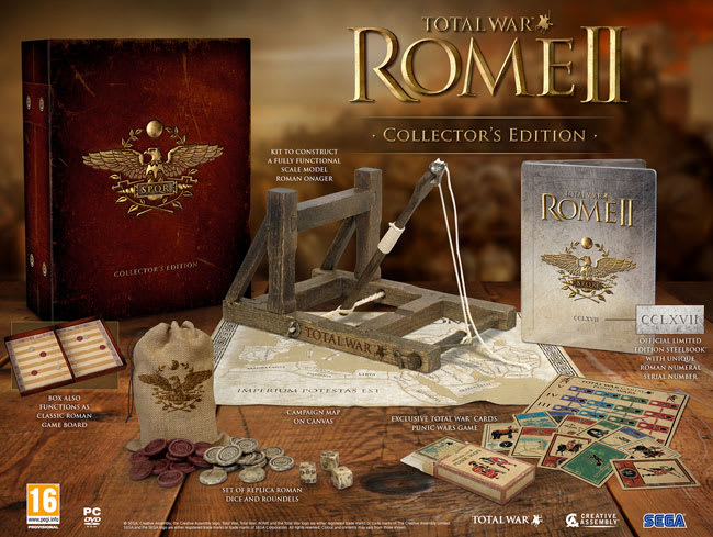 Total War: Rome II GAME Exclusive Collectors Edition available at GAME