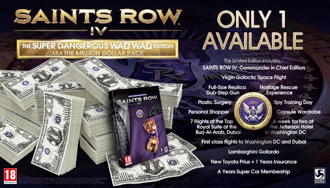 Saints Row IV Super Dangerous WAD WAD Edition aka Million Dollar Pack