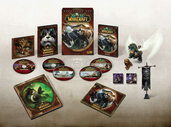 World of WarCraft Mists of Pandaria Collectors Edition Content