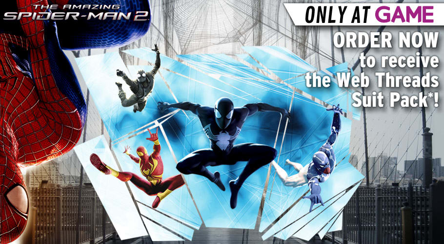 The Amazing Spiderman 2 Web Threads Pack - Only at GAME