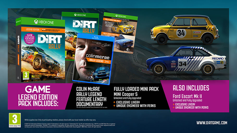 DiRT Rally Legend Edition on Xbox One, available Only At GAME
