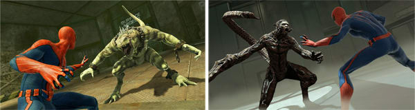 Villains the Lizard and the Scorpion in the Amazing Spider-Man on Xbox 360
