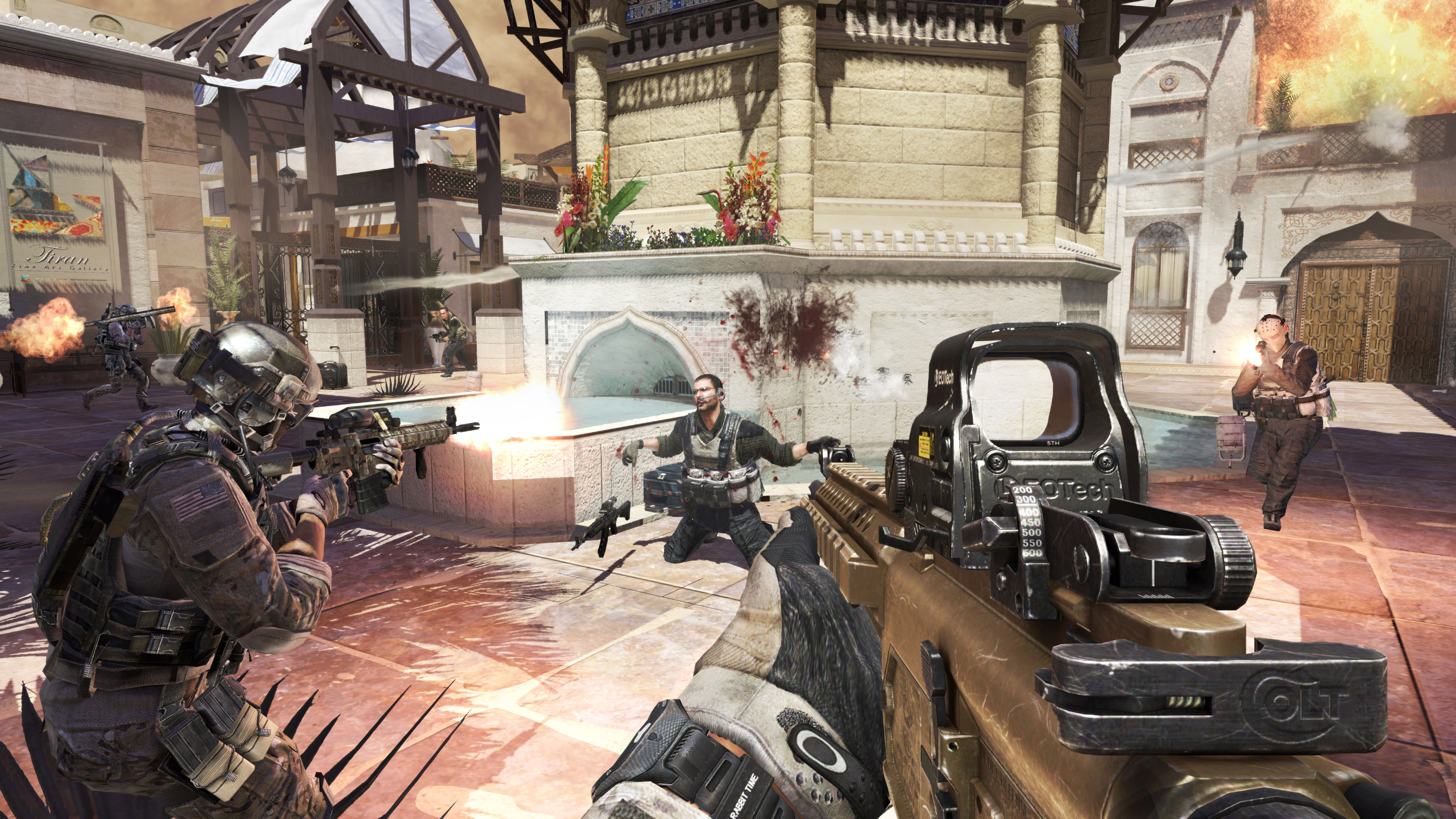 Run-and-gun in Oasis, an Arabian multiplayer map in COllection 2 for Modern Warfare 3