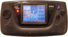 The Sega Game Gear - giving the Game Boy the only serious run for it's money